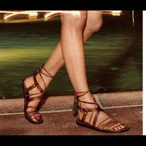 FREE PEOPLE willow gladiator tassel sandal